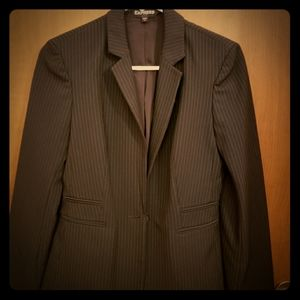 Express traditional pinstripe jacket